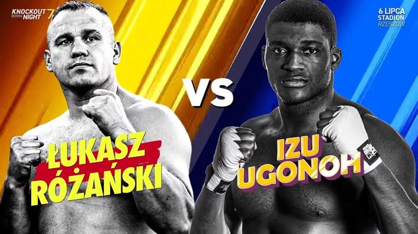Izu Ugonoh i Łukasz Różański, czyli uczestnicy walki wieczoru /Youtube/Knockout Boxing Night /