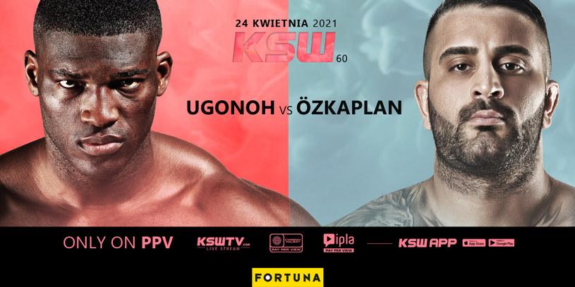 Izu Ugonoh vs Uğur Özkaplan na KSW 60 /KSW /Informacja prasowa