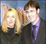 J.K. Rowling z mężem /INTERIA.PL