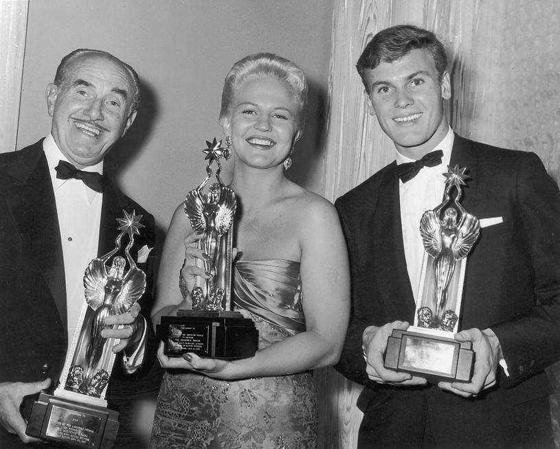 J.L. Warner, Peggy Lee i Tab Hunter w Los Angeles (1952) /Getty Images
