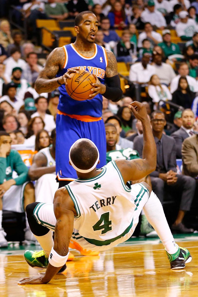 J.R. Smith z New York Knicks i Jason Terry (Boston Celtics) /AFP