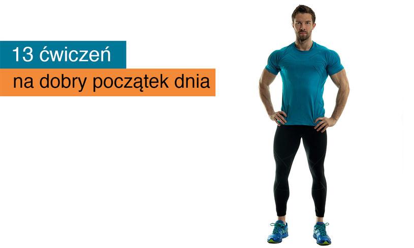 Jacek Bilczyński prezentuje 13 ćwiczeń, które pomogą ci lepiej zacząć dzień! /INTERIA.PL