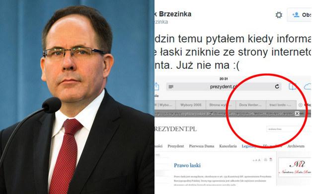 Jacek Brzezinka zaliczył wpadkę na Twitterze /Grażyna Myślińska, Twitter /Agencja FORUM