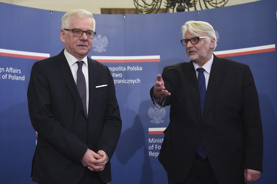 Jacek Czaputowicz i Witold Waszczykowski /Radek Pietruszka /PAP