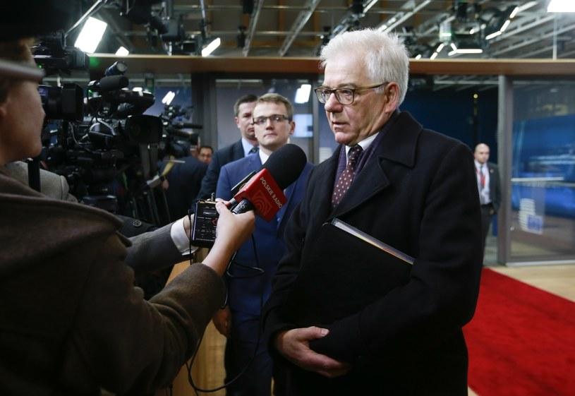 Jacek Czaputowicz w Brukseli /PAP/EPA