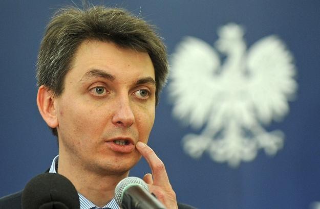 Jacek Dominik, pełnomocnik rządu ds. wprowadzenia euro. Fot. Donat Brykczyński /Reporter