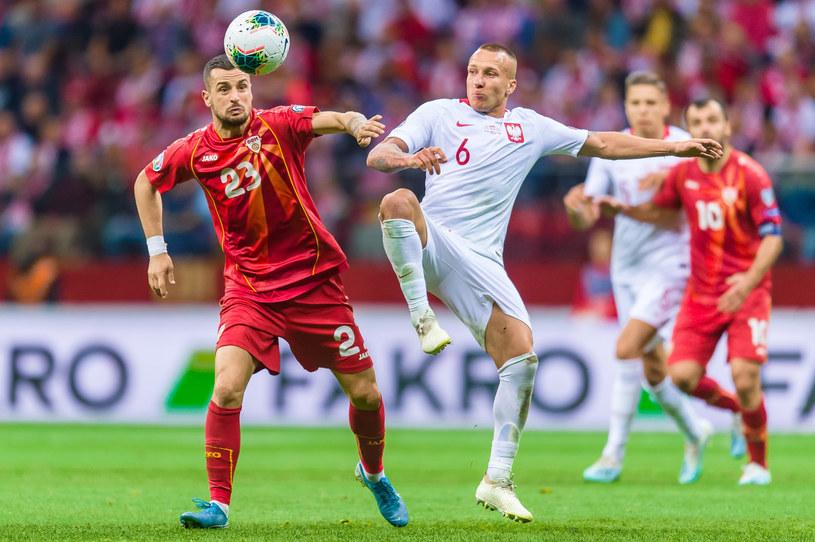Jacek Góralski w meczu z Macedonią Północną /Maciej Witkowski/REPORTER /