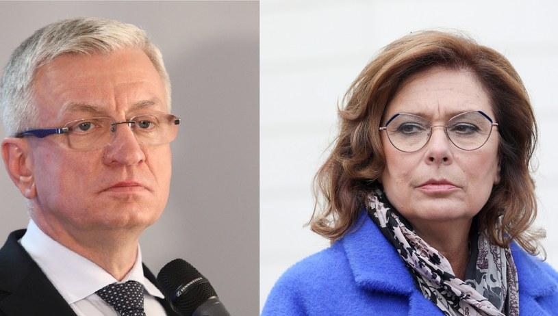 Jacek Jaśkowiak i Małgorzata Kidawa-Błońska /Tomasz Jastrzebowski/REPORTER, ANDRZEJ IWANCZUK/REPORTER /East News