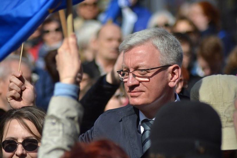 Jacek Jaśkowiak na antyrządowym proteście /Karolina Adamska /East News