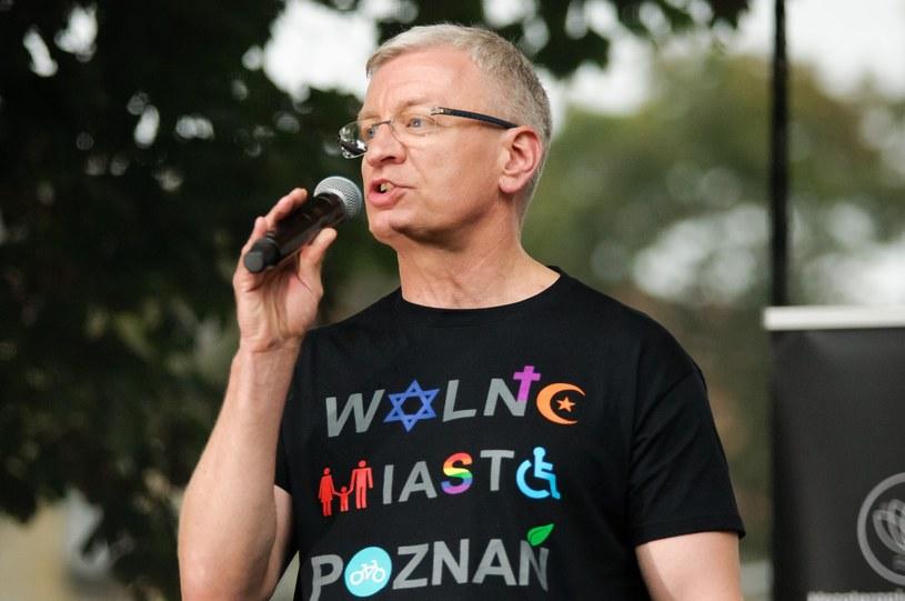 Jacek Jaśkowiak na Marszu Równości /Jacek Trublajewicz /Reporter