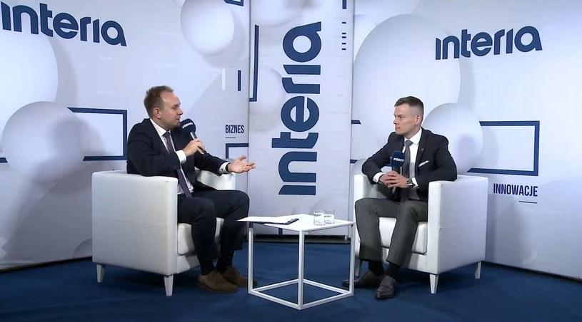 Jacek Jastrzębski, przewodniczący Komisji Nadzoru Finansowego w studiu Interii /Fot. Ireneusz Rek /INTERIA.PL