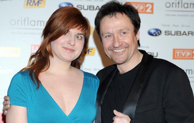 Jacek Kawalec z córką Kaliną /Andras Szilagyi /MWMedia