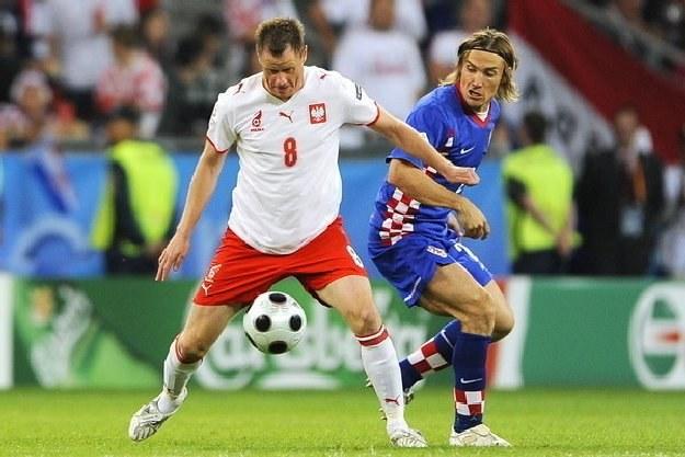 Jacek Krzynówek 96 razy zagrał w reprezentacji Polski /AFP
