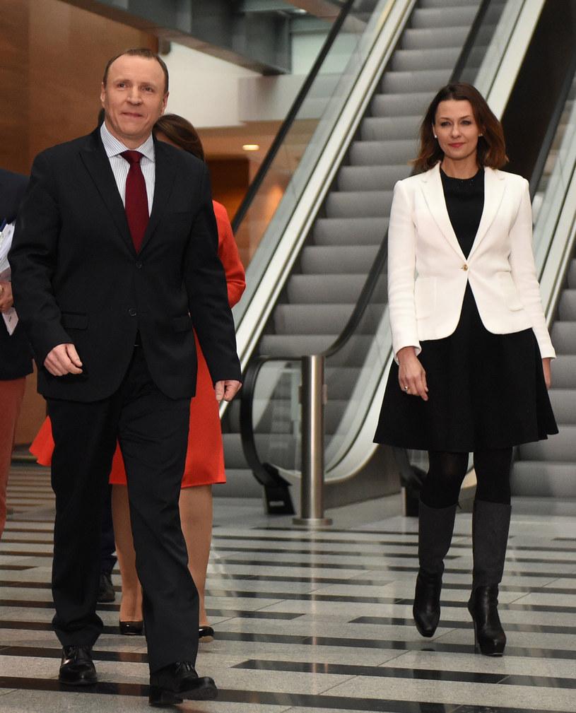 Jacek Kurski i Ania Popek /Adam Chełstowski /Agencja FORUM