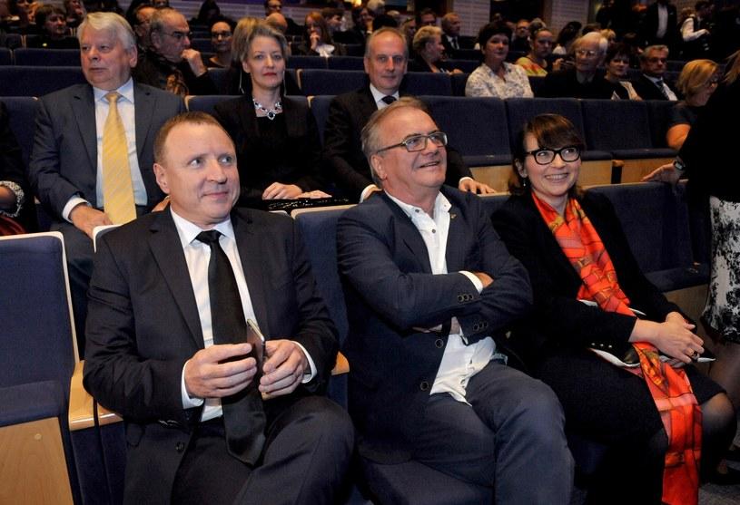 Jacek Kurski i Jacek Bromski podczas 41. Festiwalu Polskich Filmów fabularnych w Gdyni /KFP/REPORTER /East News