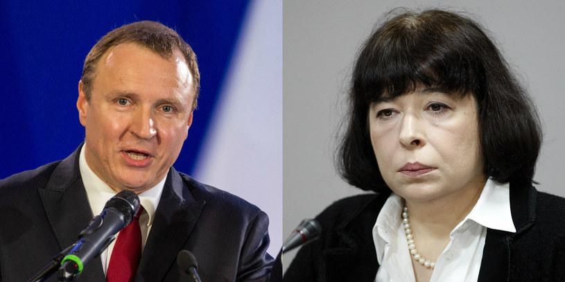 Jacek Kurski i Wanda Zwinogrodzka /Andrzej IwanczukREPORTER/ Adam GuzREPORTER /East News