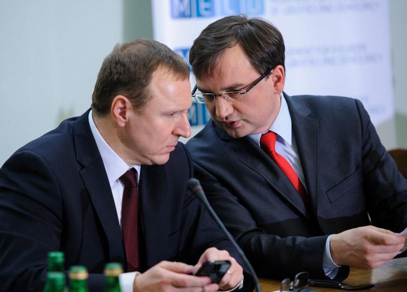 Jacek Kurski i Zbigniew Ziobro (arch.) są przeciwnikami Mateusza Morawieckiego w obozie Zjednoczonej Prawicy /Rafał Oleksiewcz /Reporter