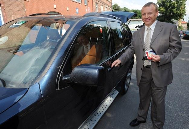 Jacek Kurski lubi szybką jazdę samochodem /Wojciech Stróżyk /Reporter