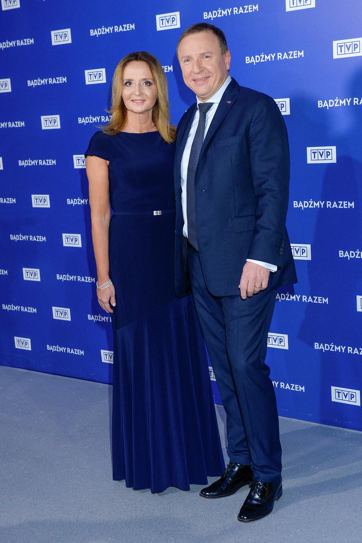 Jacek Kurski razem z żoną na zimowej ramówce TVP /Niemiec