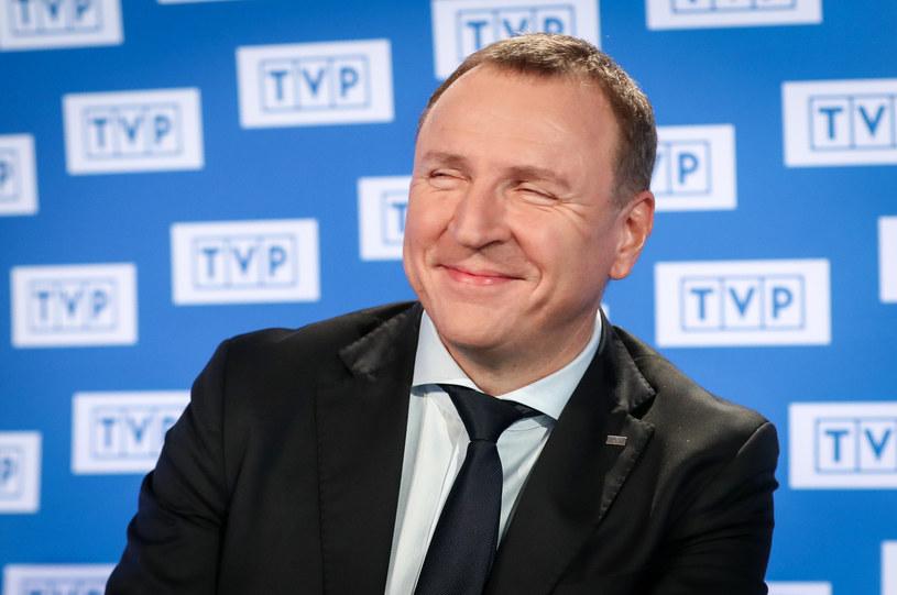 """Jacek Kurski: TVP """"równoważy"""" TVN i Polsat /Andrzej Iwańczuk /Reporter"""