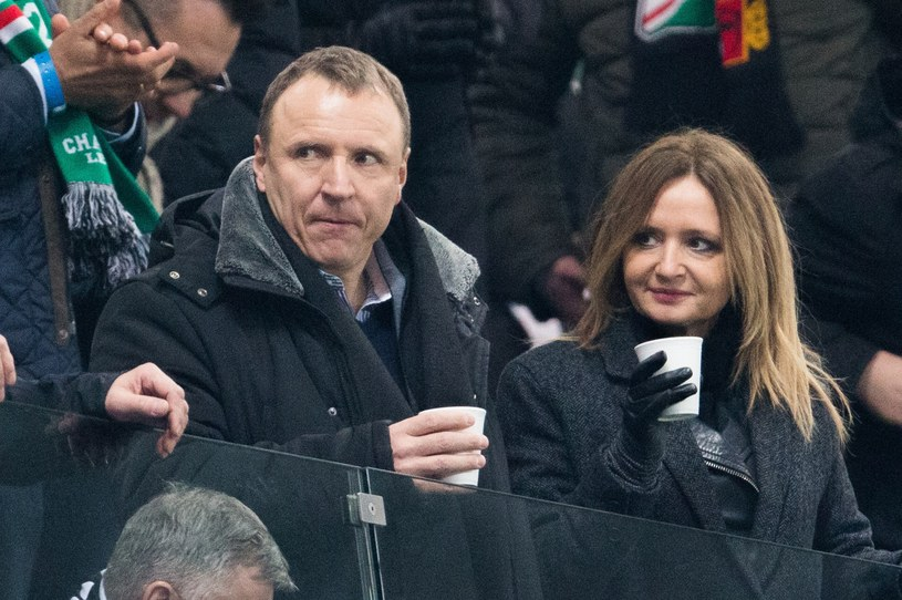 Jacek Kurski z narzeczoną /Andrzej Iwańczuk /East News