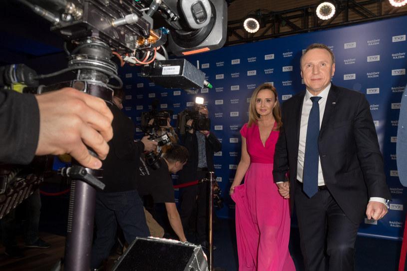 Jacek Kurski z ukochaną Joanną / Jacek Domiński /Reporter
