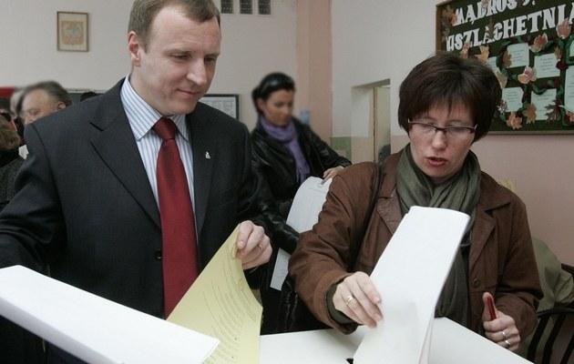 Jacek Kurski z żoną (2007 rok) /Glowala /Agencja FORUM