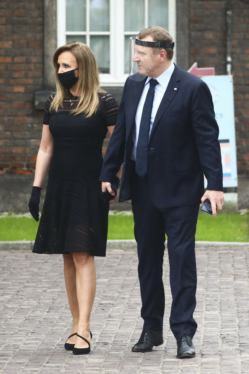 Jacek Kurski z żoną, czerwiec 2020 /Beata Zawrzel /Reporter