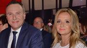 Jacek Kurski z żoną Joanną na prezentacji ramówki TVP