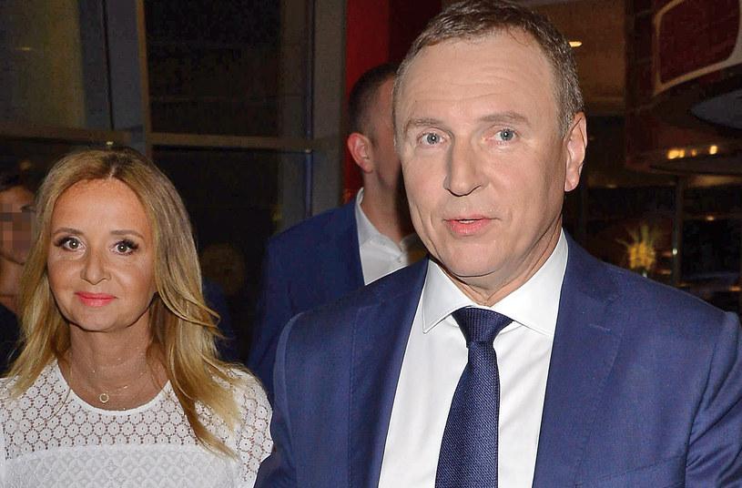 Jacek Kurski z żoną Joanną /Radosław Nawrocki /Agencja FORUM