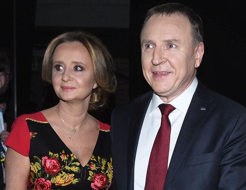 Jacek Kurski z żoną /MWMedia