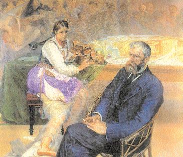 Jacek Malczewski, Adam Asnyk z muzą, 1895-97 /Encyklopedia Internautica