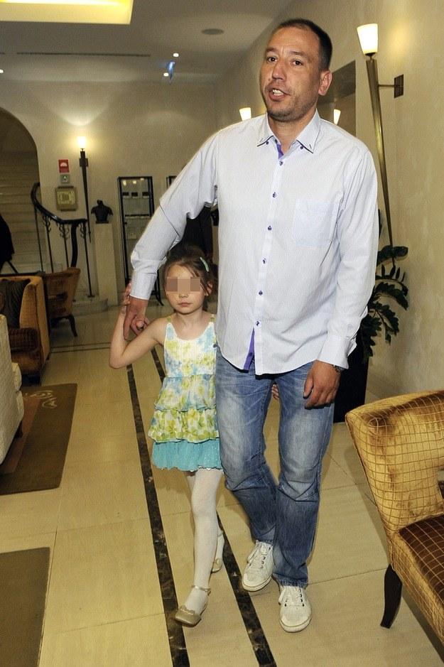 Jacek Olszewski z córką Lilianną /Niemiec /AKPA