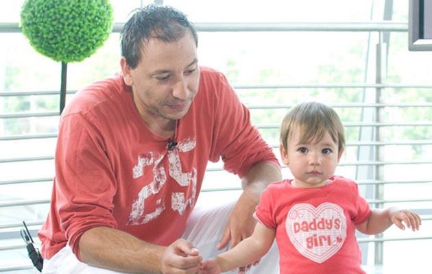 Jacek Olszewski z córką Lilką, fot.Piotr Wygoda  /East News