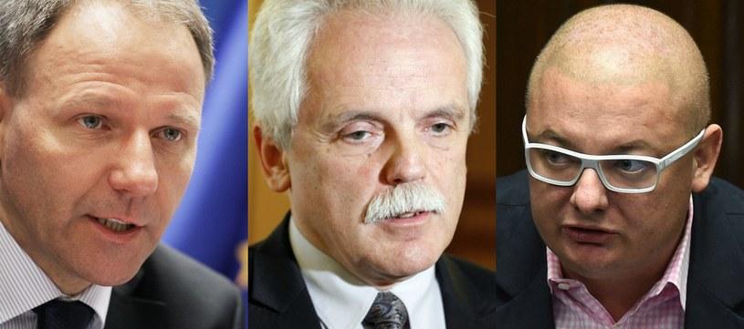 Jacek Protasiewicz, Stanisław Huskowski, Michał Kamiński (fot. archiwalne) /Paweł Supernak/Artur Reszko/Radek Pietruszka /PAP