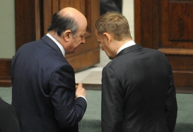 Jacek Rostowski i Donald Tusk /fot. Witold Rozbicki /Reporter