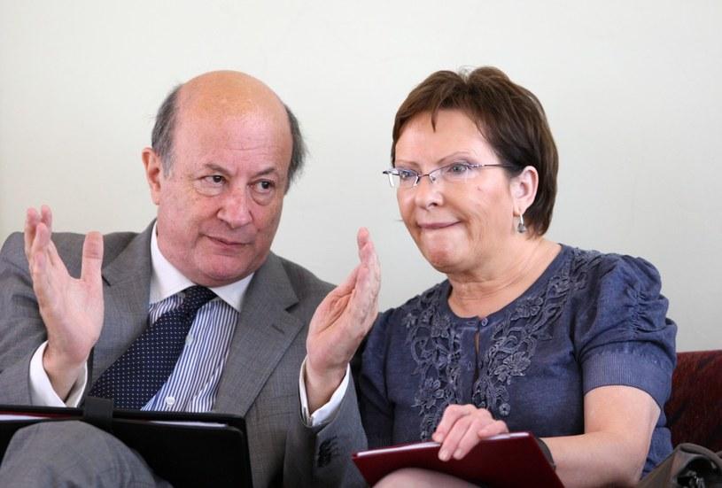 Jacek Rostowski i Ewa Kopacz /Stanisław Kowalczuk /East News