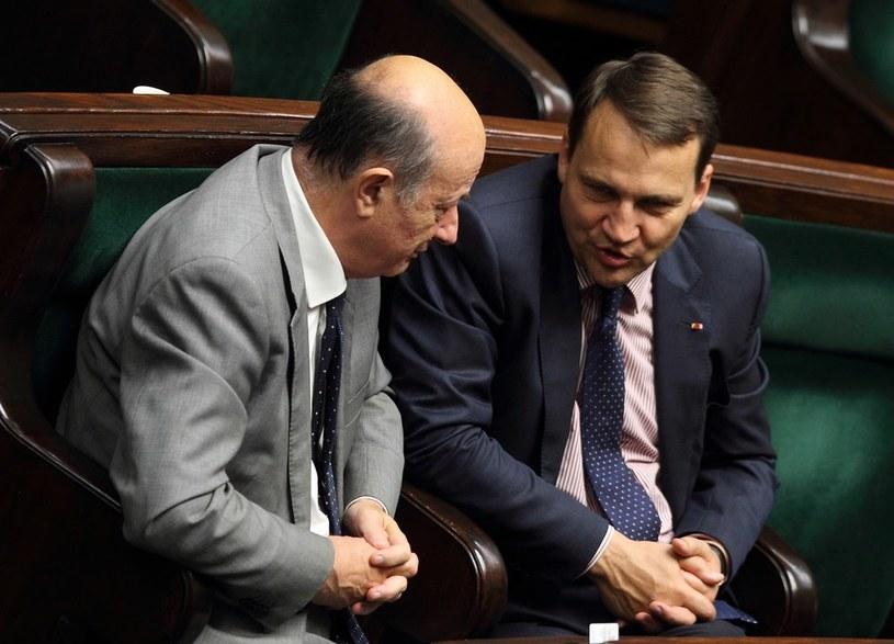 Jacek Rostowski i Radosław Sikorski /Stanisław Kowalczuk /East News