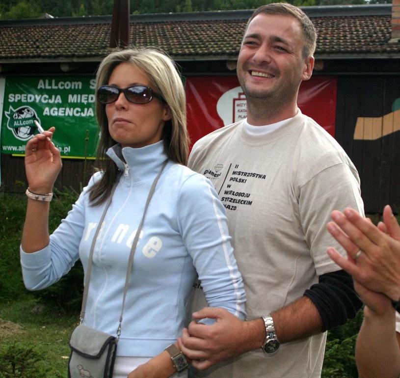 Jacek Rozenek i Małgorzata Rozenek na Wieloboju Strzeleckim, 2004 r. /Piotr Podlewski /Foto IP