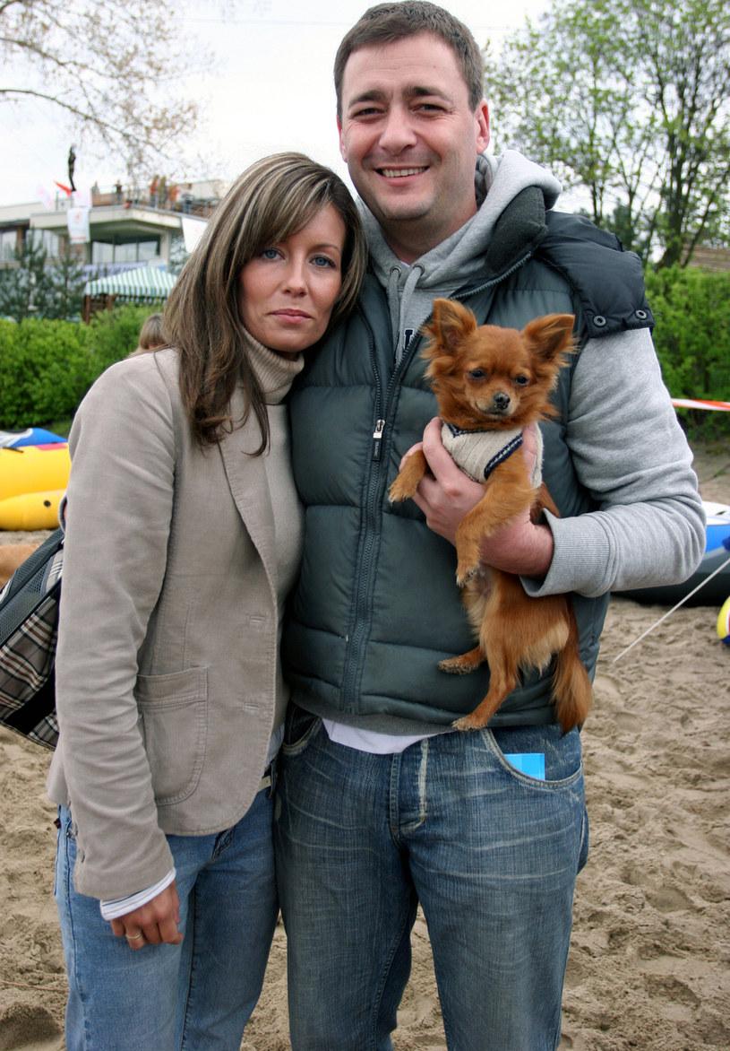 Jacek Rozenek z byłą już żoną, Małgorzatą, 2005 rok /Warda /AKPA