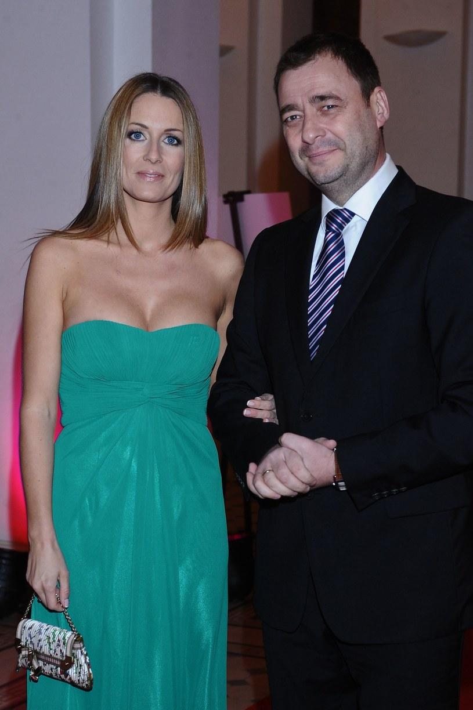 Jacek Rozenek z byłą już żoną, Małgorzatą, 2012 rok /Andras Szilagyi /MWMedia
