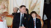 Jacek Rozenek zabrał syna na pokaz mody