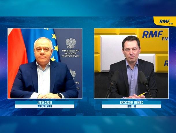 Jacek Sasin był gościem Krzysztofa Ziemca /Piotr Szydłowski /RMF FM