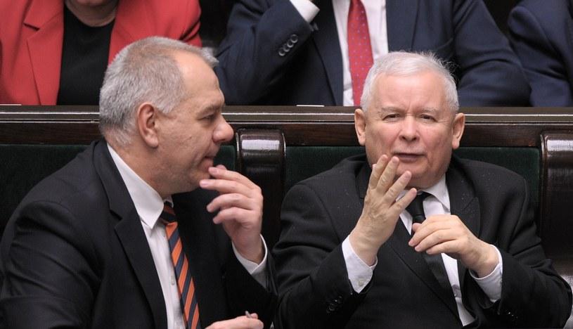 Jacek Sasin  i Jarosław Kaczyński /Jan Bielecki /East News