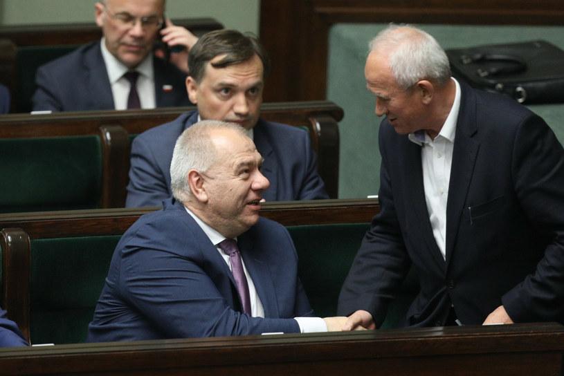 Jacek Sasin i Krzysztof Tchórzewski /Fot. Tomasz Jastrzębowski/REPORTER /East News
