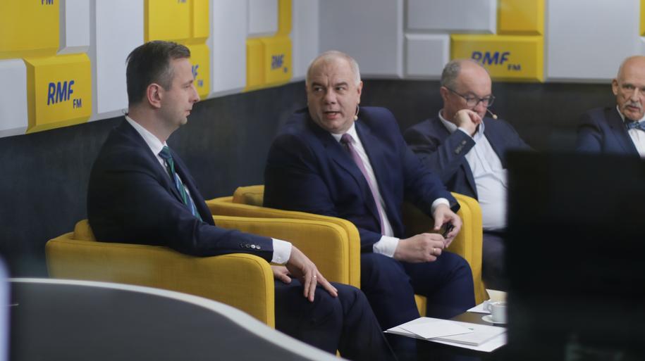 Jacek Sasin i Władysław Kosiniak-Kamysz podczas żywiołowej dyskusji /Karolina Bereza /RMF FM