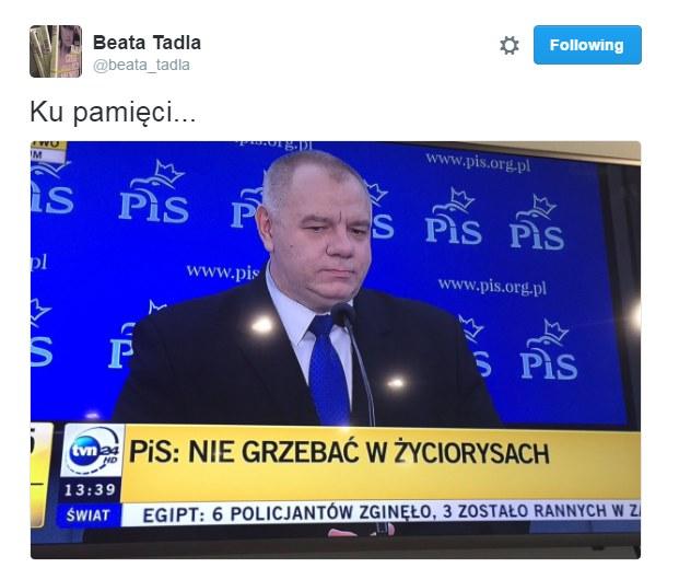 """Jacek Sasin """"przyłapany"""" /Twitter"""