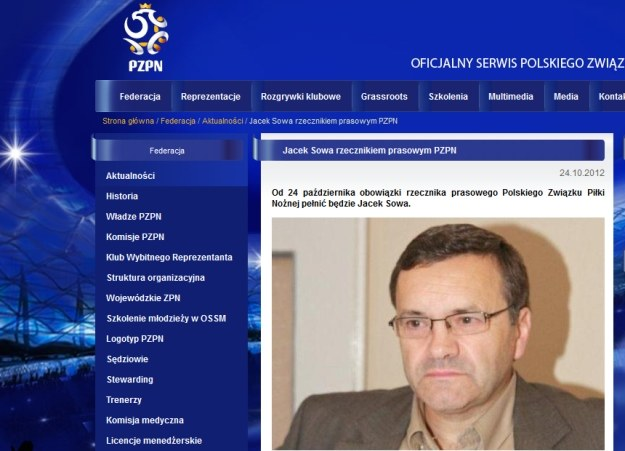 Jacek Sowa / fot. www.pzpn.pl /Internet