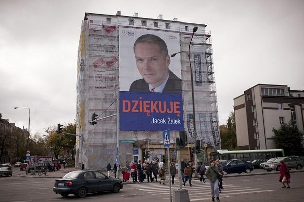 Jacek Żalek po sukcesie wyborczym / fot. Michał Kość/AGENCJA WSCHÓD /Reporter