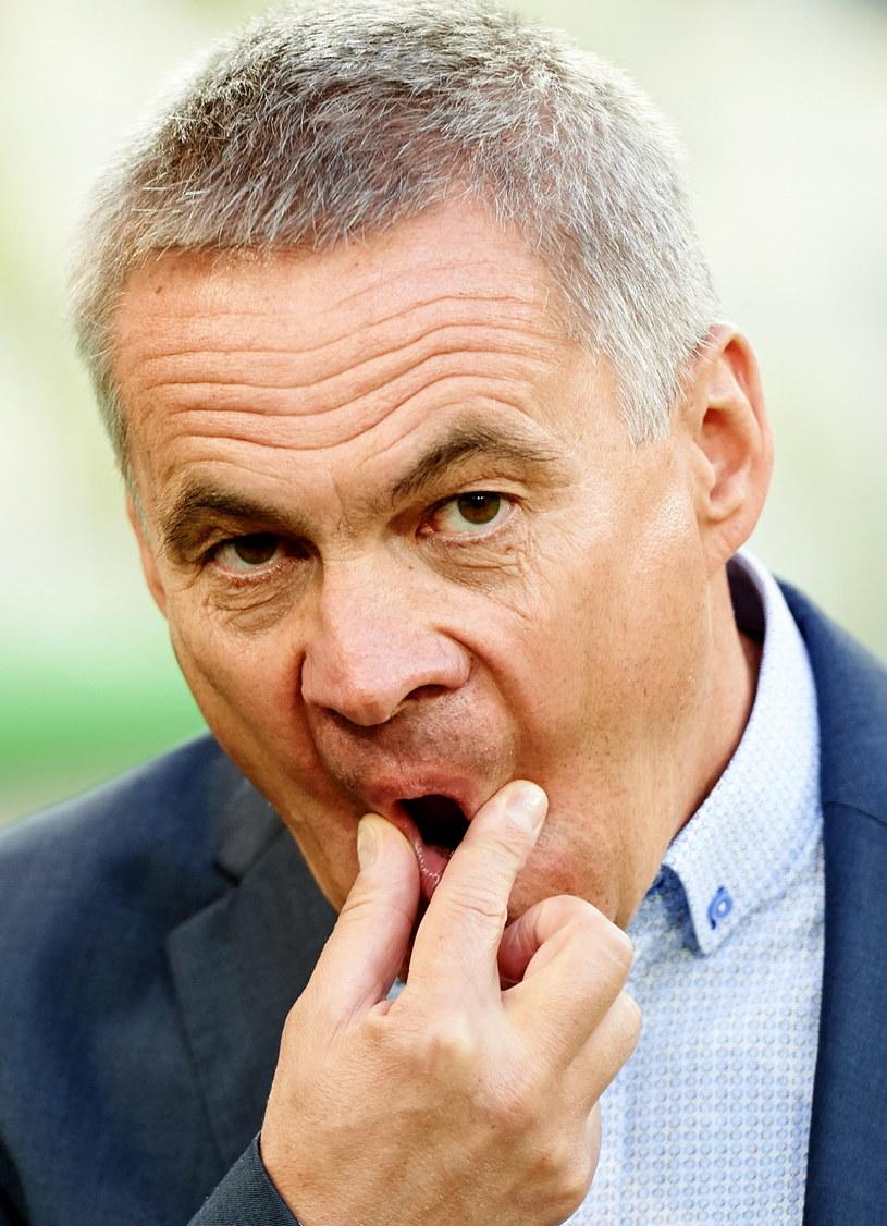 Jacek Zieliński może być zadowolony - jego Cracovia nie przegrała od 11 meczów /Jacek Bednarczyk /PAP
